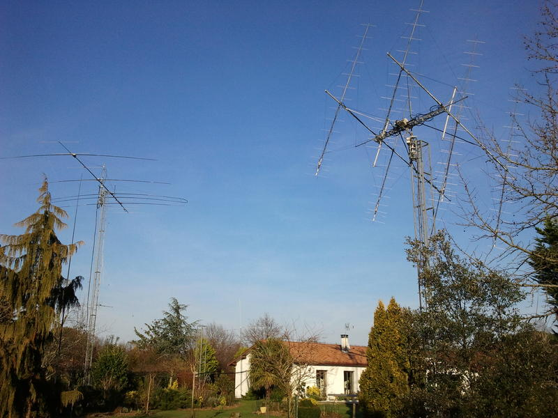 2M EME and HF Antennas