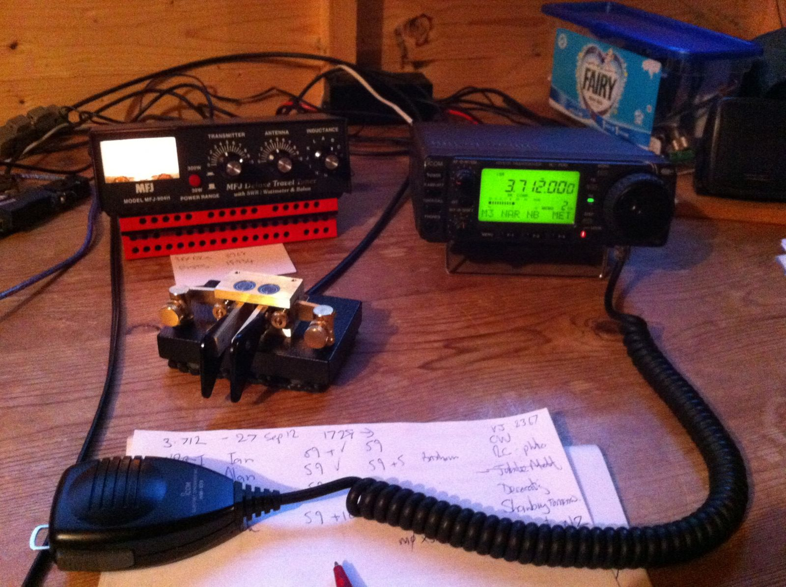 Icom IC-706 - having a rest due to ny new interest in QRP!