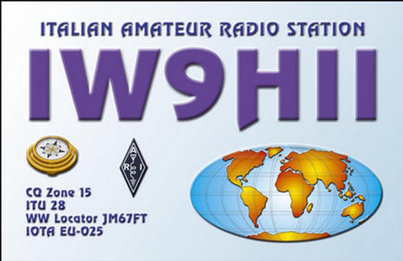 QSL image for IW9HII