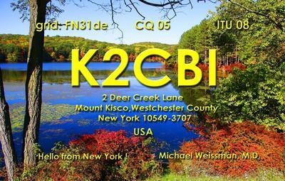QSL image for K2CBI