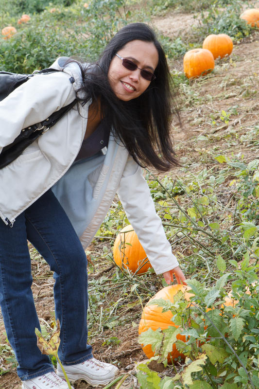 XYL pumpkin picking