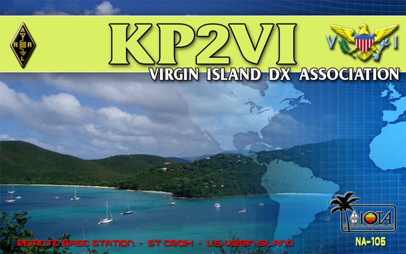 QSL image for KP2VI