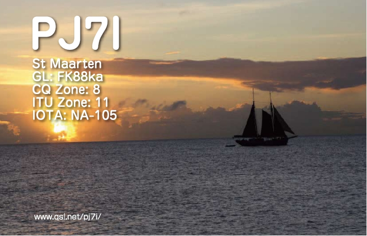 QSL image for PJ7I