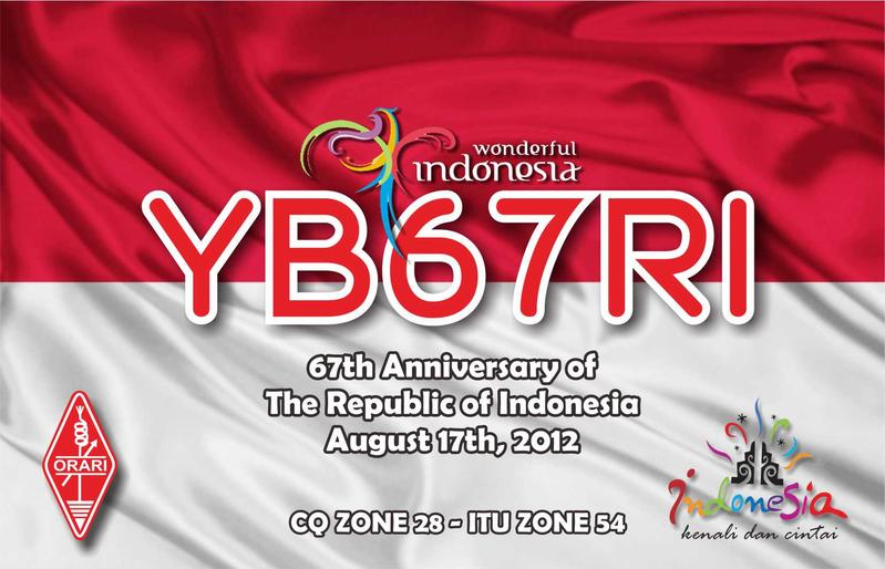 QSL image for YB67RI