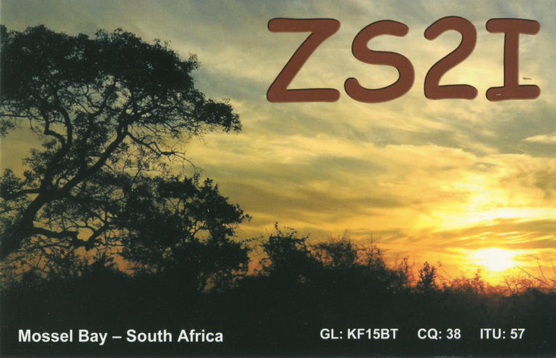 QSL image for ZS2I