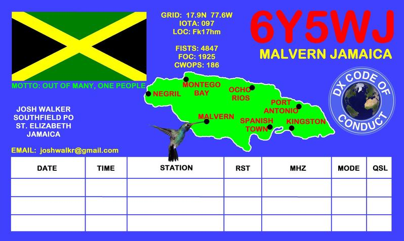 QSL image for 6Y5WJ