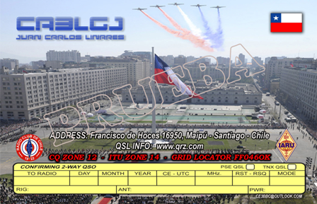 QSL image for CA3LGJ