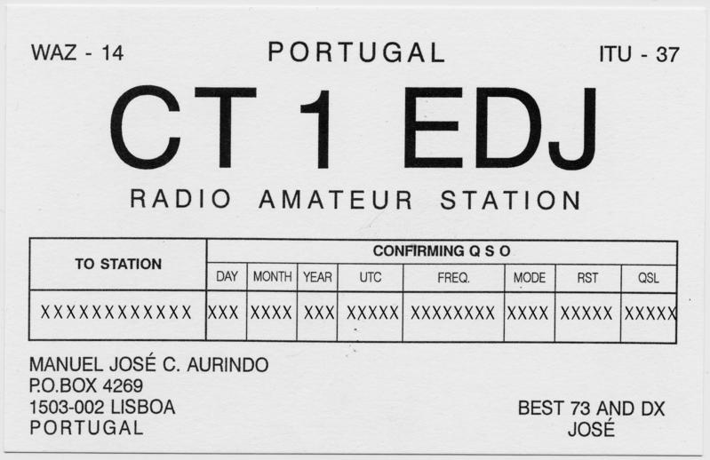 QSL image for CT1EDJ