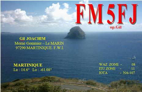 QSL image for FM5FJ