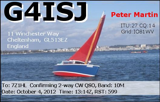 QSL image for G4ISJ