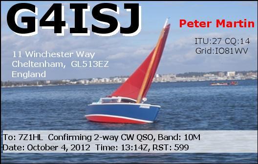 QSL image for G4ISJ
