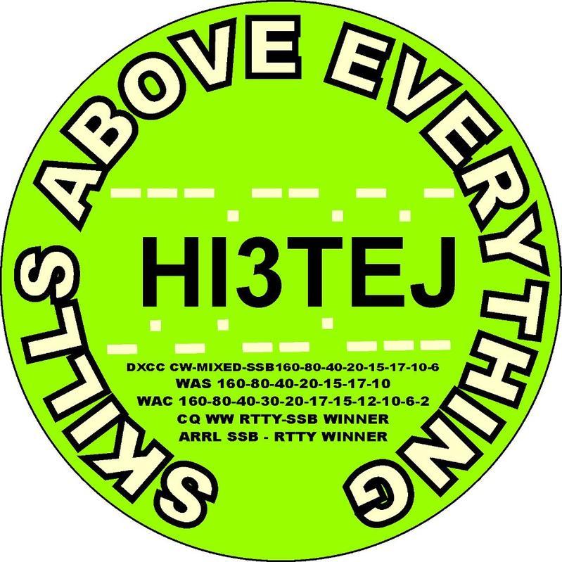 QSL image for HI3TEJ
