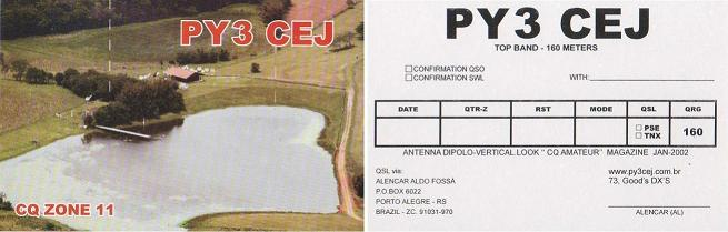 QSL image for PY3CEJ