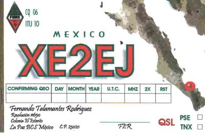 QSL image for XE2EJ