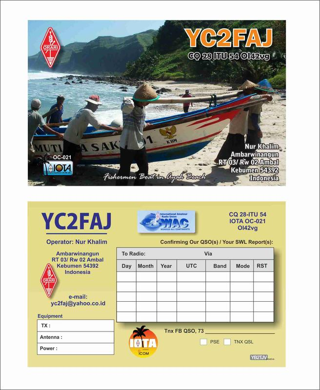 QSL image for YC2FAJ