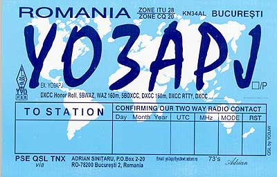 QSL image for YO3APJ