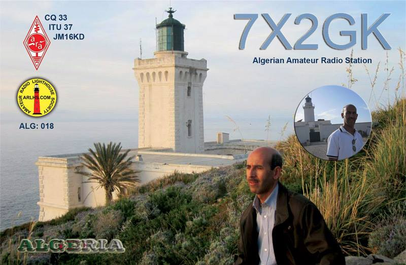 QSL image for 7X2GK
