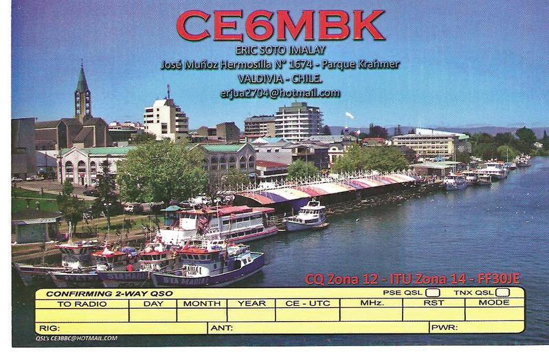 QSL image for CE6MBK