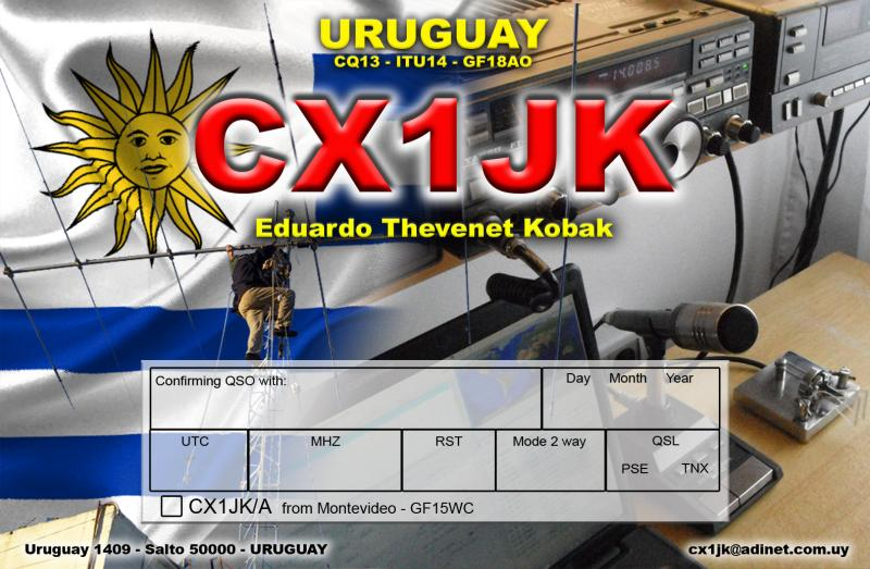 QSL image for CX1JK