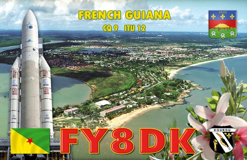 QSL image for FY8DK