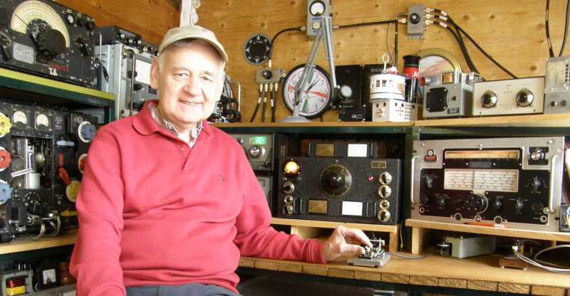 Vintage shack and vintage operator