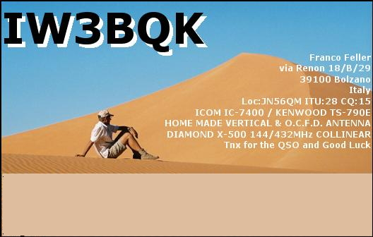QSL image for IW3BQK