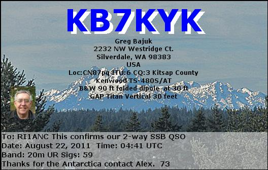 QSL image for KB7KYK