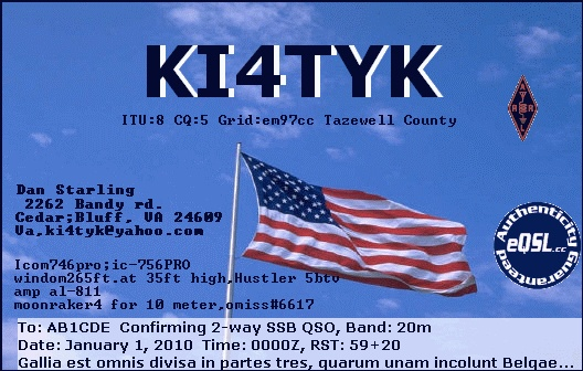 QSL image for KI4TYK