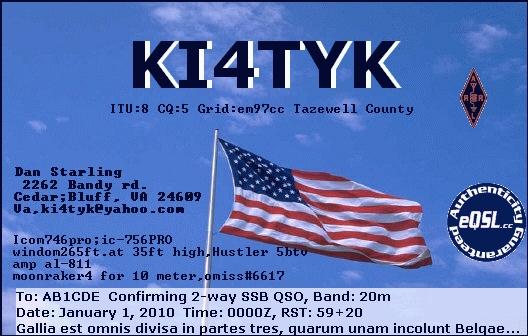 QSL image for KI4TYK
