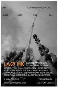 QSL image for LA0HK