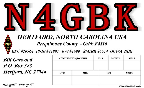 QSL image for N4GBK