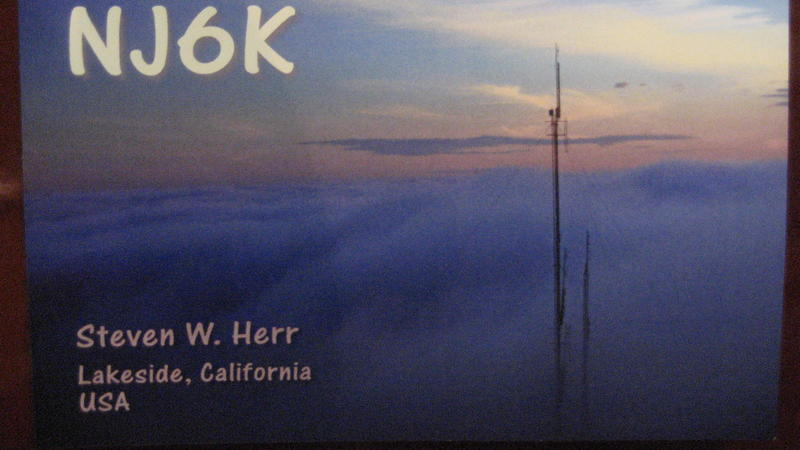 QSL image for NJ6K