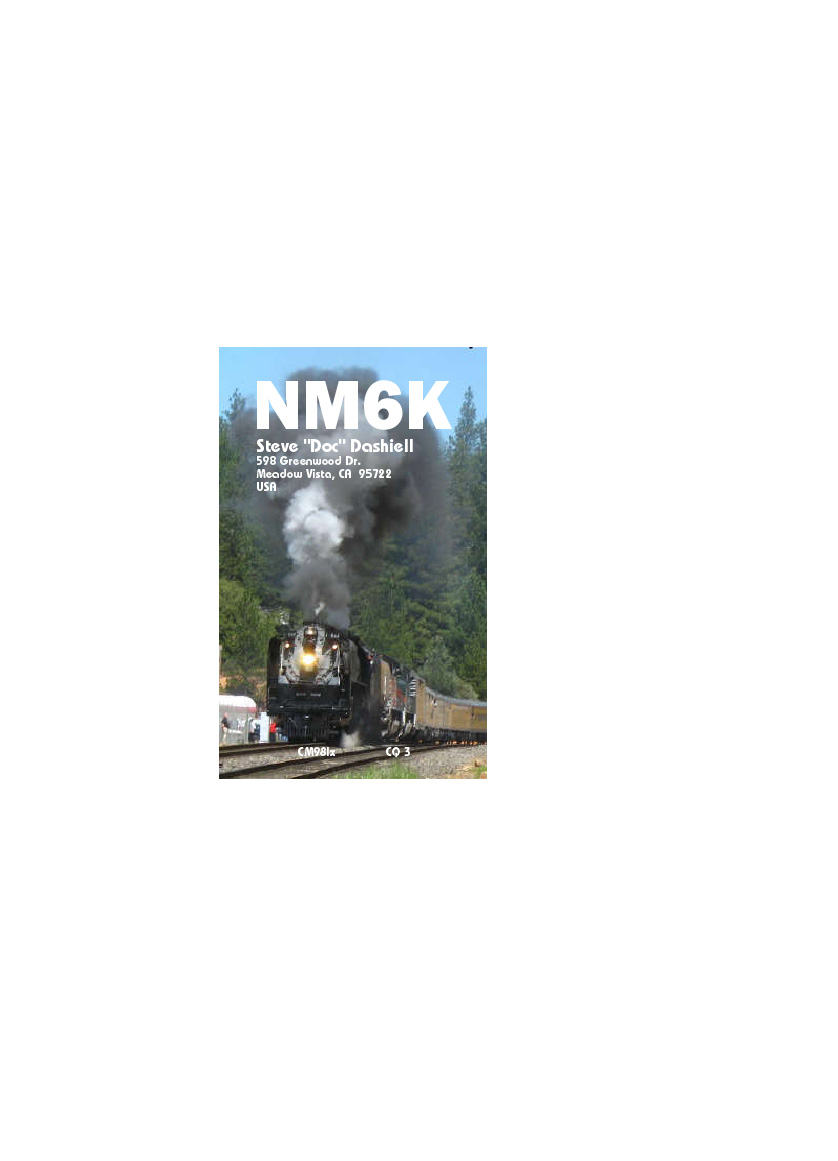 QSL image for NM6K