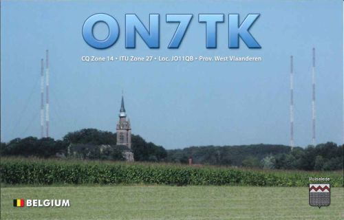 QSL Card ON7TK ver. 5