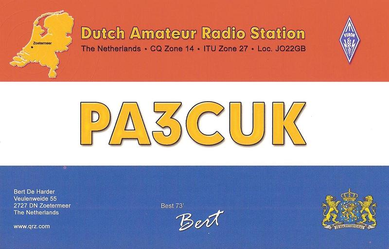 QSL image for PA3CUK