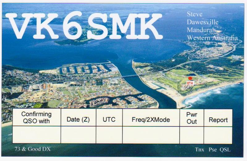 QSL image for VK6SMK