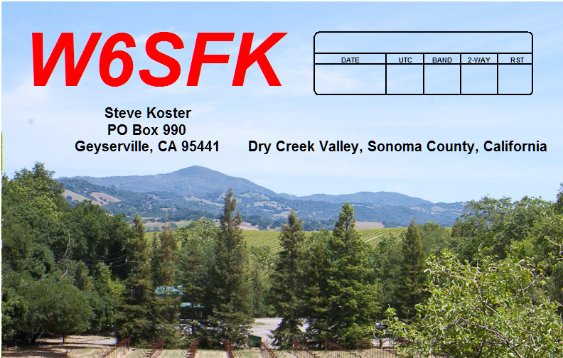 QSL image for W6SFK
