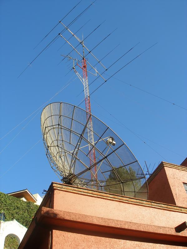 Th7DX and 5 meters TVRO dish