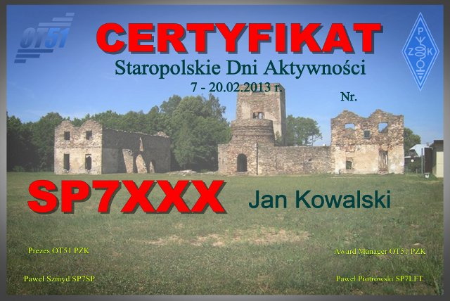 QSL image for 3Z51OVL