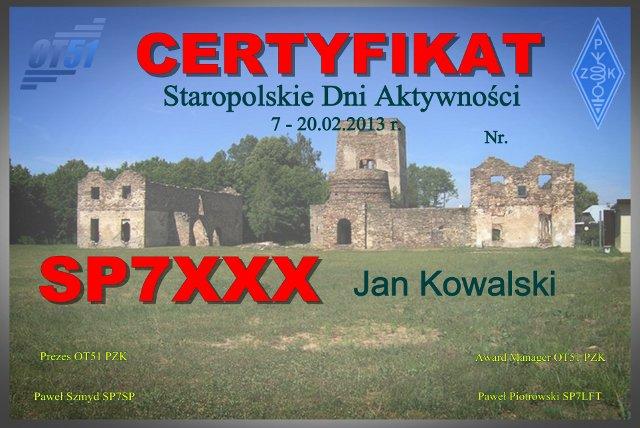 QSL image for 3Z51OVL
