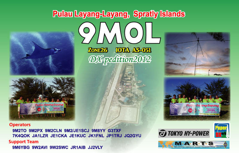 QSL image for 9M0L