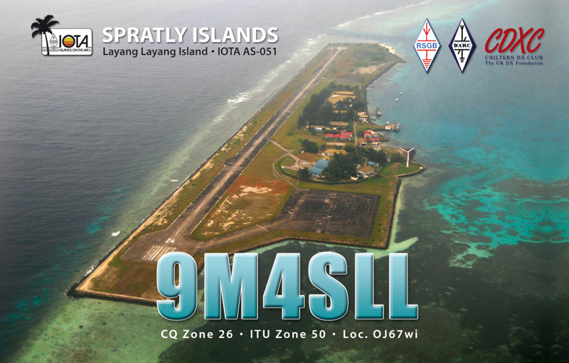 QSL image for 9M4SLL