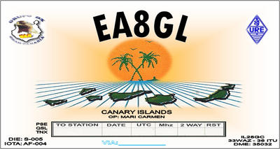 QSL image for EA8GL
