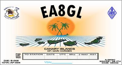 QSL image for EA8GL