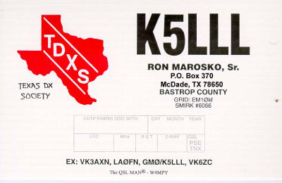 QSL image for K5LLL