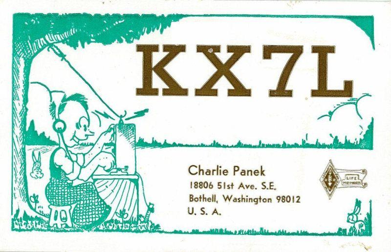 QSL image for KX7L