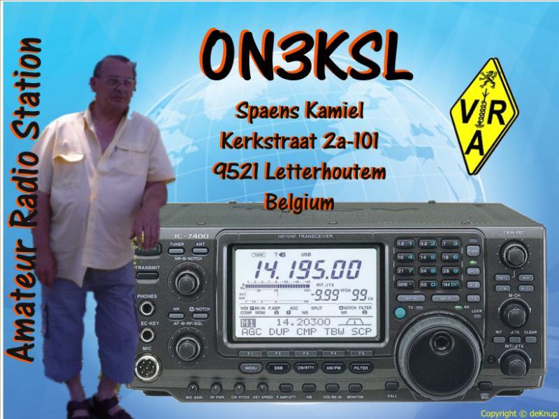 QSL image for ON3KSL