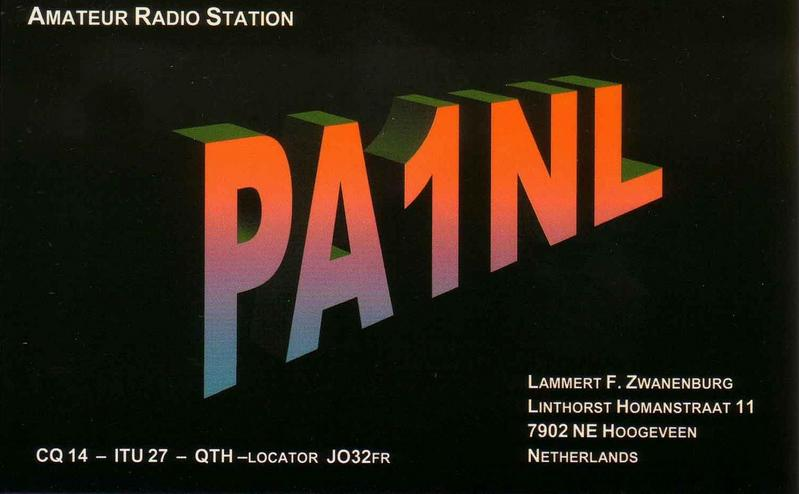 QSL image for PA1NL