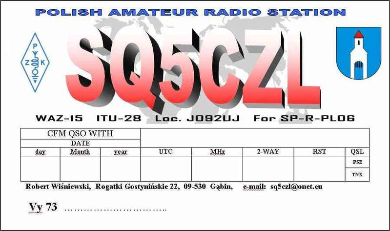 QSL image for SQ5CZL