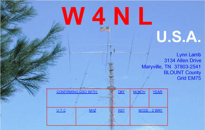 QSL image for W4NL